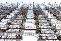 View from below radar Duga. Chernobyl, Ukraine. royalty free stock photography