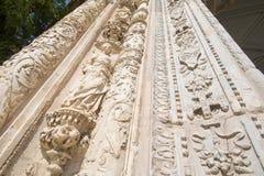 View from below of facade of ancient Museum of Santa Cruz in Tol Stock Photos