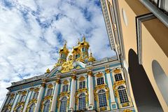 View from below to Catherine palace. Royalty Free Stock Photos