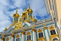 View from below to Catherine palace. Stock Image