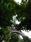 View from below to the Eiffel Tower Stock Image
