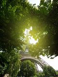 View from below to the Eiffel Tower Royalty Free Stock Image