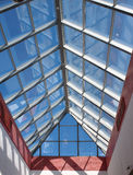 View from below the transparent roof of the glass Royalty Free Stock Images