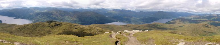 Panorama from Ben Lomond Royalty Free Stock Photos