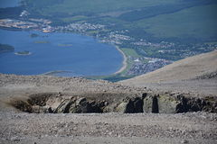 View from the Ben Nevis Royalty Free Stock Photography