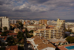 View of Benalmádena Coast. View of Benalmadena Costa from the windows of an hotel. Malaga Royalty Free Stock Photography