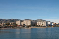 View of Benalmadena coastline Stock Photography