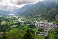 View of Benasque Stock Photo