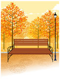 The view of Bench Royalty Free Stock Images
