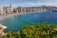 View of Benidorm, Costa Blanca, Spain Royalty Free Stock Photo