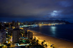 View of Benidorm at night, Spain Royalty Free Stock Image