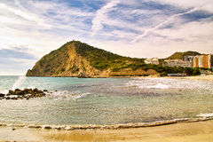 View of Benidorm's coast. In Costa Blanca - Spain Royalty Free Stock Images