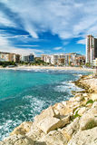View of Benidorm's coast Stock Images