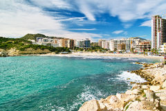 View of Benidorm's coast. In Costa Blanca - Spain Royalty Free Stock Photo