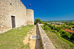 View from Benkovac fortress on Dalmatian inland Royalty Free Stock Photo