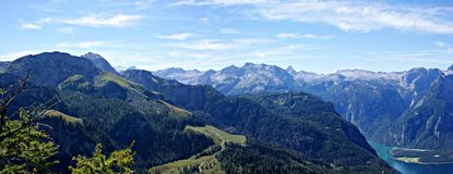 View on the Berchtesgaden alps and \Koenigssee\ Royalty Free Stock Photos