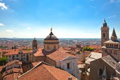 View of Bergamo Alta, Italy Stock Photography