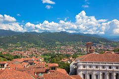 View of Bergamo, Italy Stock Photography