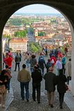 View of Bergamo Lower town from Saint Giacomo Gate, Italy