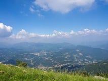 View of Bergamo valleys stock photo