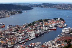View of Bergen Royalty Free Stock Image