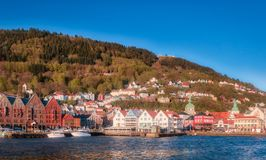 View on Bergen. City of Bergen, Norway Royalty Free Stock Photos