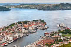 View of Bergen Royalty Free Stock Photo