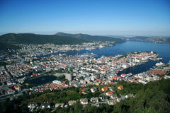 View of Bergen, Norway. View of Bergen from Mount Floyen, Norway Stock Photography
