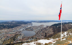 View of Bergen, Norway Royalty Free Stock Images