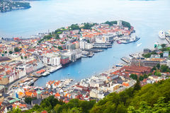 View of Bergen, Norway. View of colorful city Bergen, Norway Royalty Free Stock Photography