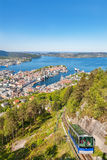 View of Bergen in Norway Royalty Free Stock Photo