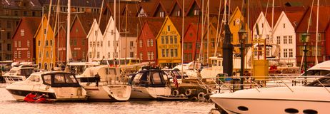 View of Bergen`s Old Town stock image