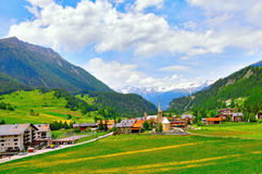 View of Bergun village. Stock Photos