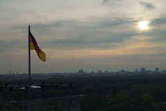 View of Berlin from the Bundestag, Germany. View of Berlin skyline from the Bundestag Reichstag, Germany Royalty Free Stock Photography