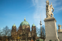 View of the Berlin Cathedral  (Berliner Dom) is the largest Evangelical Church in Germany. Royalty Free Stock Photos