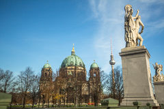 View of the Berlin Cathedral (Berliner Dom) is the largest Evangelical Church in Germany. BERLIN, GERMANY - NOV 17, 2014: View of the Berlin Cathedral (Berliner royalty free stock photo
