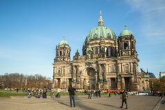 View of the Berlin Cathedral (Berliner Dom) is the largest Evangelical Church in Germany. BERLIN, GERMANY - NOV 17, 2014: View of the Berlin Cathedral (Berliner stock photography