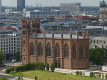 View from the Berlin Cathedral. View to the the Church of Friedrichswerdersche from Berlin Cathedral, Berlin, Germany Stock Image