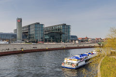View of the Berlin Hauptbahnhof station Stock Images
