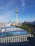 View of Berlin with Fernsehturm stock image