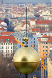 View of Berlin past Golden Globe Stock Photography