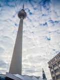 View of the Berlin TV Tower Fernsehturm Royalty Free Stock Image