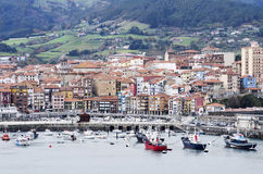 View of Bermeo city, Basque Country, Spain. Stock Image