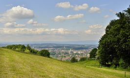 View of  Bern city from Gurten Hill. Switzerland Royalty Free Stock Image