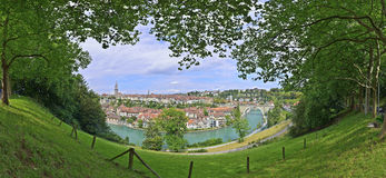 View of Bern city from hill Royalty Free Stock Image