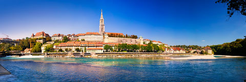 View of Bern old city center with river Aare, Switzerland Royalty Free Stock Photos