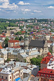 View of the Bernardine church, Lviv, Ukraine Royalty Free Stock Image