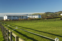 A view of Berwickshire High School, Scotland. A general view of the new Berwickshire High School, in the county town of Duns, Berwickshire, Scotland, in the stock photography