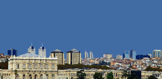 View of the Besiktas, Istanbul. Royalty Free Stock Image