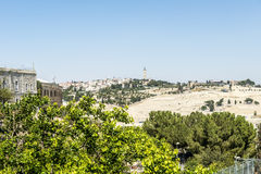 View of Bethlehem and olive mountain- the birthplace of Jesus Christ Stock Photos